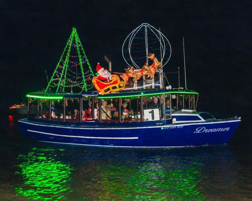 "Holiday ""sleigh rides"" in Ventura Harbor."