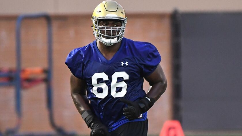 WESTWOOD, CALIFORNIA AUGUST 2, 2017-UCLA's Sunny Odogwu practices with the team at the Bruins facili