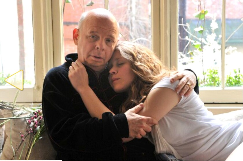 """Wallace Shawn and Lisa Joyce in """"A Master Builder."""""""