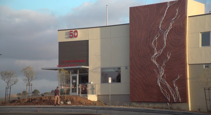 City leaders held a ribbon-cutting ceremony Tuesday for San Diego Fire-Rescue Department's new Station 50 in University City.