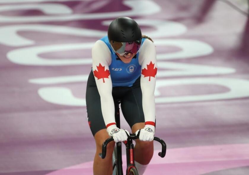 Kelsey Mitchell, de futbolista a ser la ciclista más rápida de América