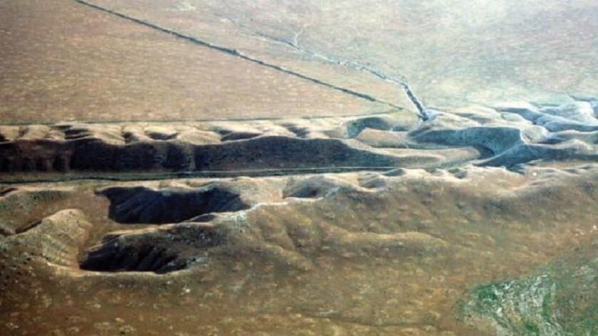 San Andreas Fault near the Salton Sea.