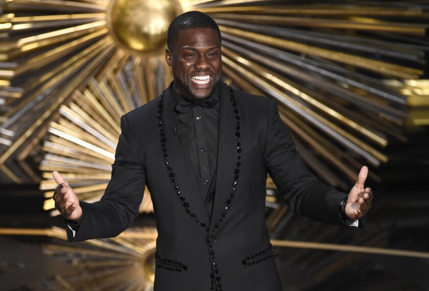 Comedy Central has ordered two series with Kevin Hart, pictured here at the Academy Awards on  Feb. 28, 2016.