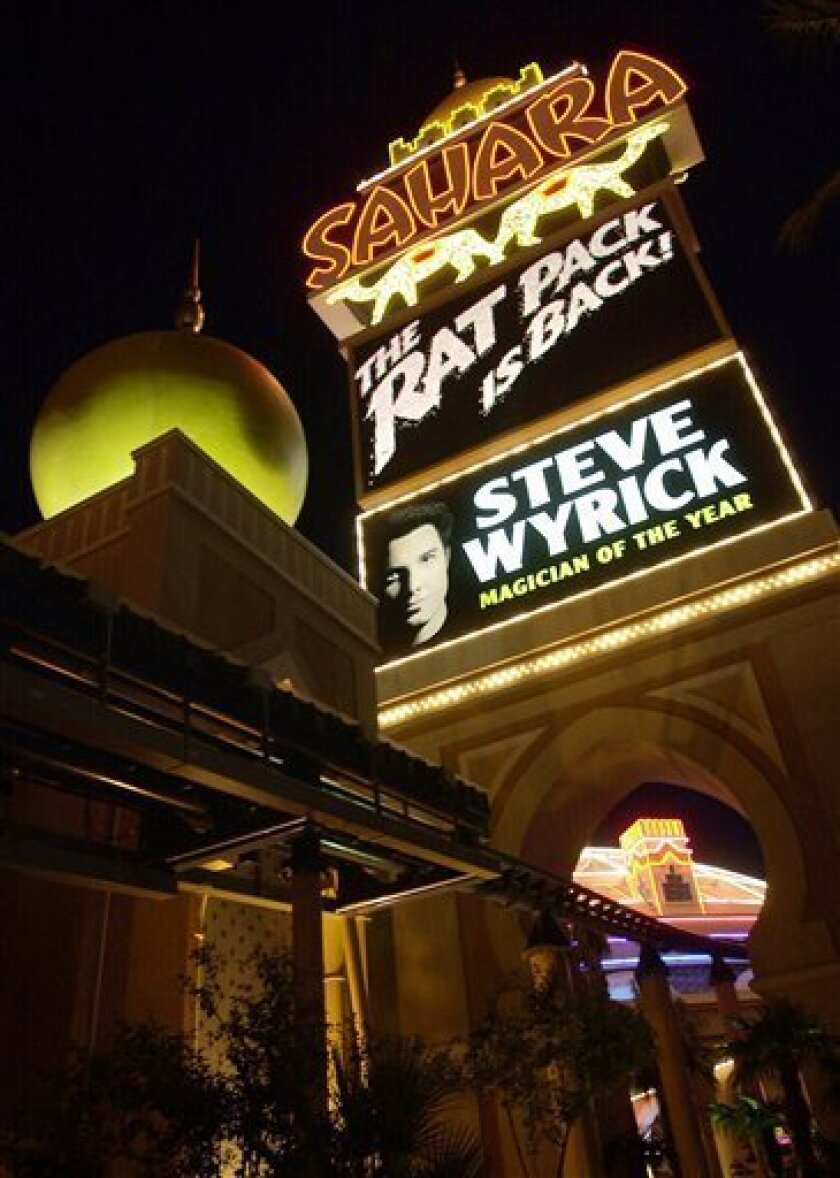 Sahara In Vegas Donating Sign To Neon Museum The San Diego Union Tribune