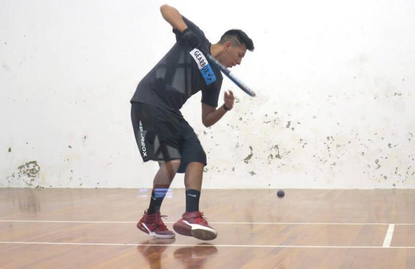 El raquetbolista boliviano Conrrado Moscoso. EFE/Gabriel Romano/Archivo