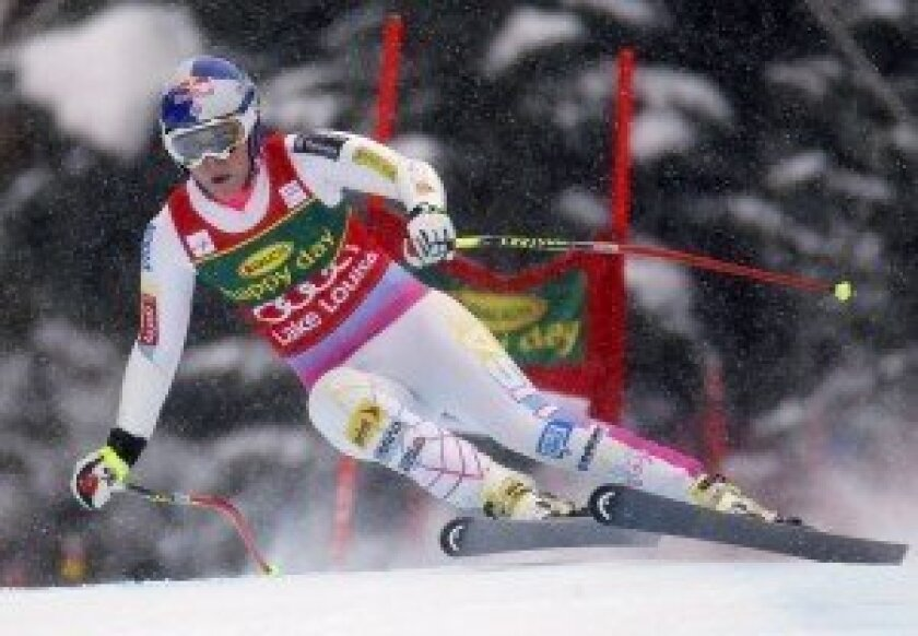 Lindsey Vonn competes in the World Cup. Photo/Mike Blake