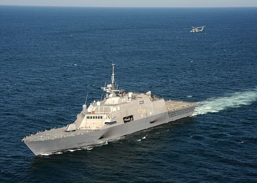 LCS Freedom, which has needed repairs at San Diego shipyards because of propulsion and hull problems.