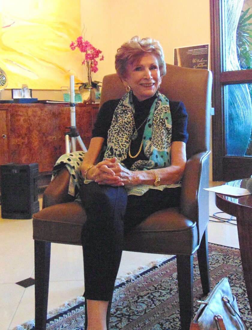 """All we had was each other then, and all we have is each other now,"" said Dr. Edith Eva Eger, a La Jolla-based clinical psychologist who survived the Holocaust. Photo by Diane Y. Welch"