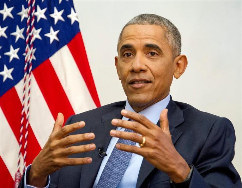 """El presidente Barack Obama señaló hoy que su sucesor Donald Trump y él son """"opuestos en algunos aspectos"""", pero reconoció que ambos coinciden en contar con una alta """"confianza"""". EFE/Archivo"""