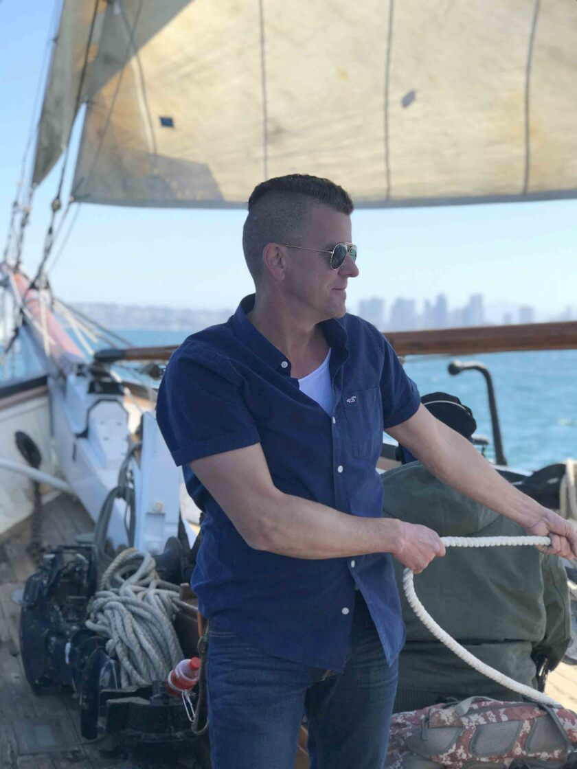 Christian Davis helped sail the Schooner Bill of Rights in the Annual Schooner Cup Race.