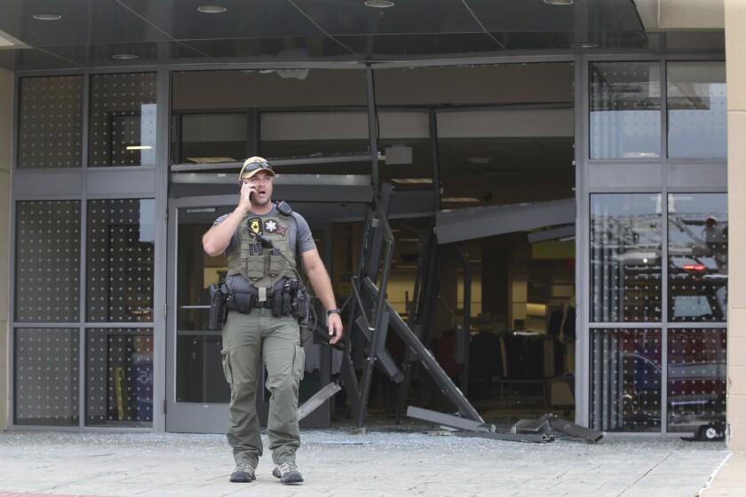 Chicago mall crash scene