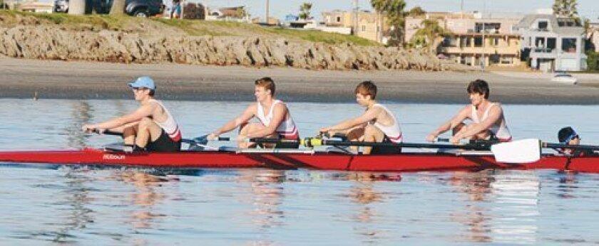 San Diego City Championship: Men's Varsity 4+. Courtesy Photos