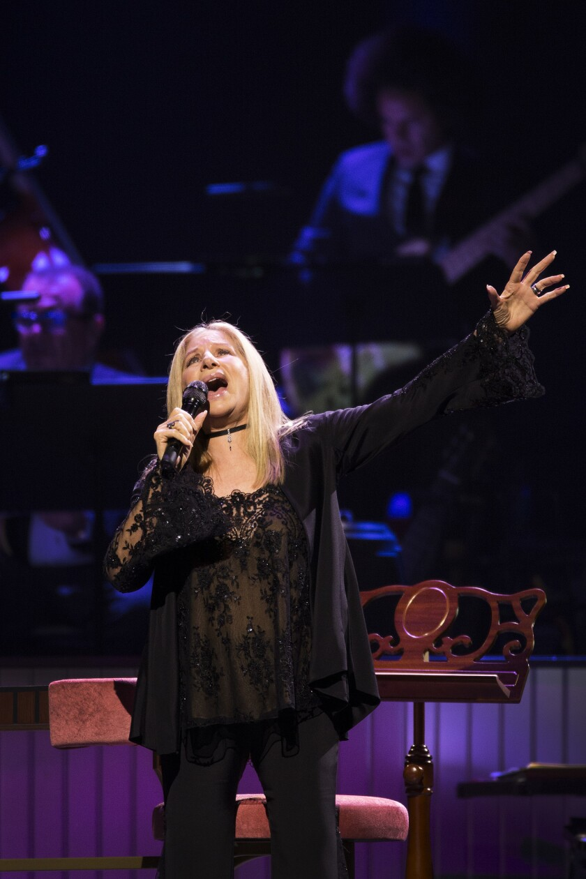 LOS ANGELES, CA. -- TUESDAY, AUGUST 2, 2016 -- Barbra Streisand performs during her concert at Stapl