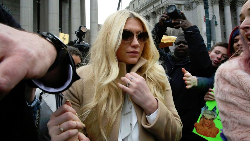 Kesha leaves the Supreme Court in New York after a hearing involving her producer, Dr. Luke.