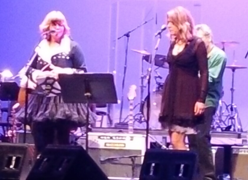 Susan Cowsill and Vicki Peterson at Beatles White Album benefit