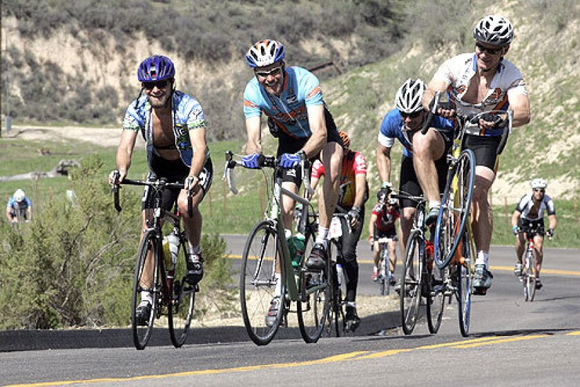 Cyclists tackle the Solvang Century, which attracted 4,850 participants this year. The ride is known for its scenery.