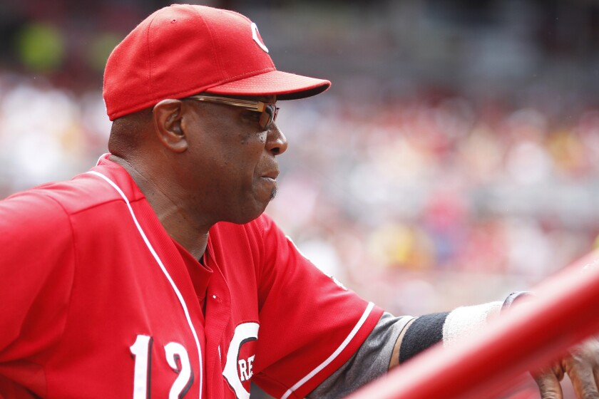 Reds Manager Dusty Baker had a stroke, out at least another week