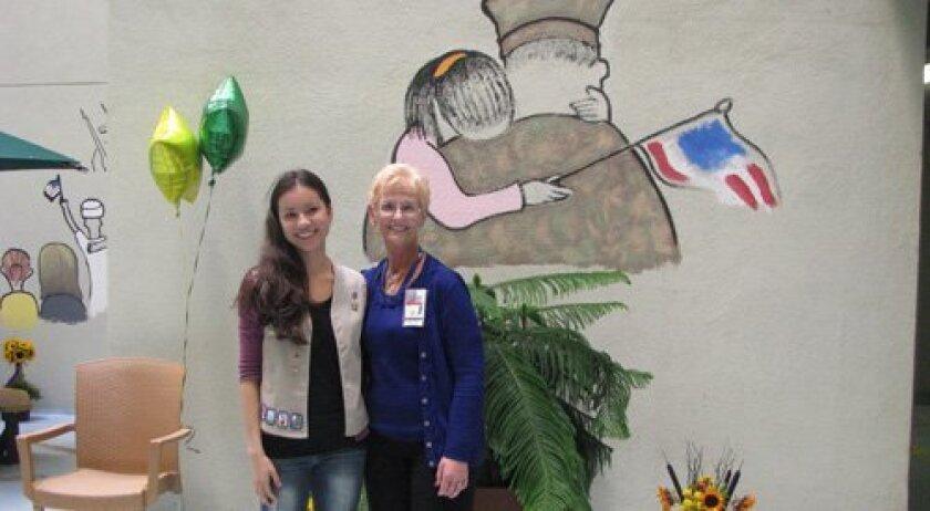 Olivia Lee with the VA's Lorelei Winn