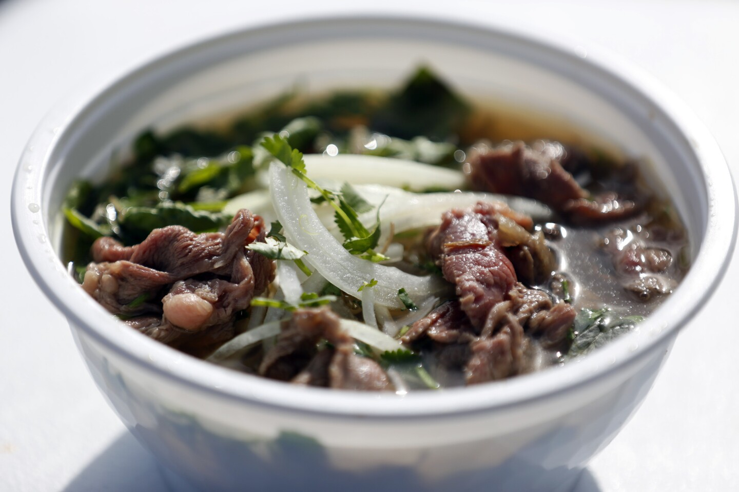 Pho, as you might expect, is the specialty of the Pho King Awesome food truck. This is a bowl of its Pho King Noodle.
