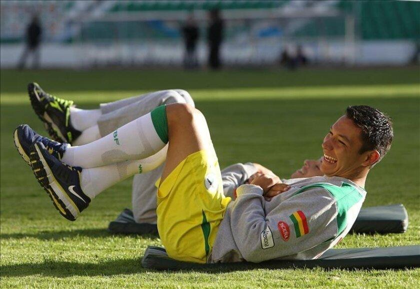 El jugador boliviano Eduardo Fierro. EFE/Archivo