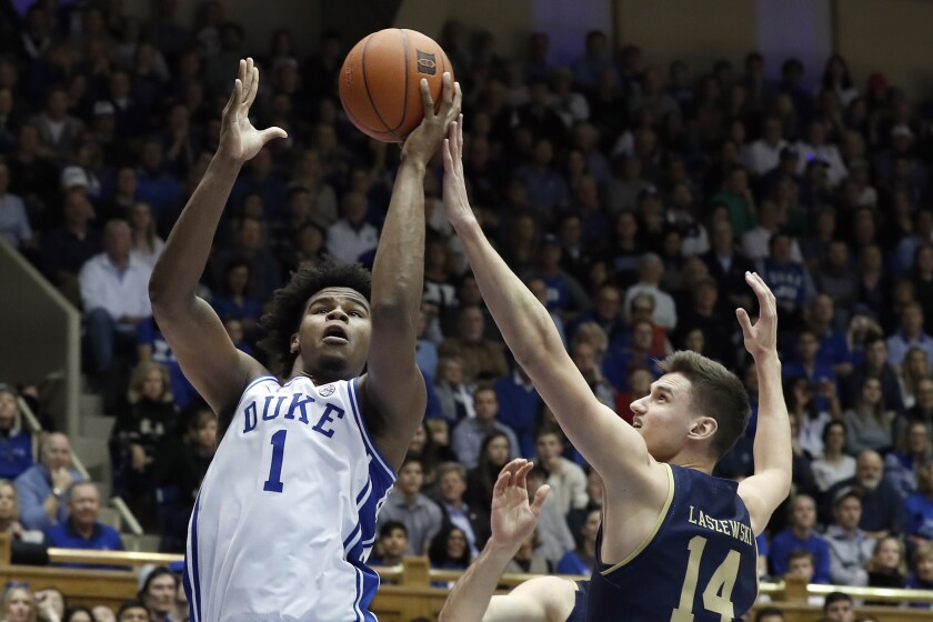 No. 7 Duke downs Notre Dame 94 60 behind 21 points by Carey