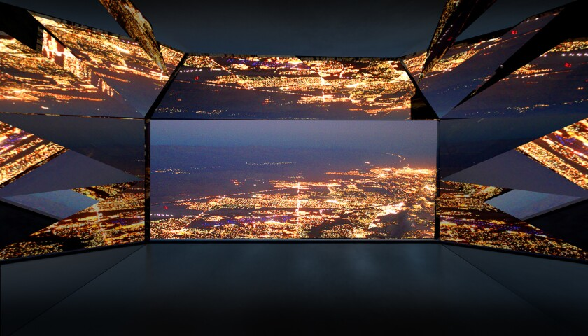 """A rendering of the inside of Aitken's """"Mirage,"""" which he calls a """"human scale kaleidoscope."""""""