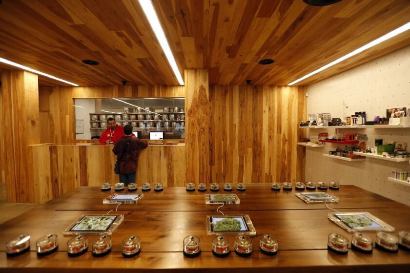 A marijuana shop that strives for an upscale retail experience.