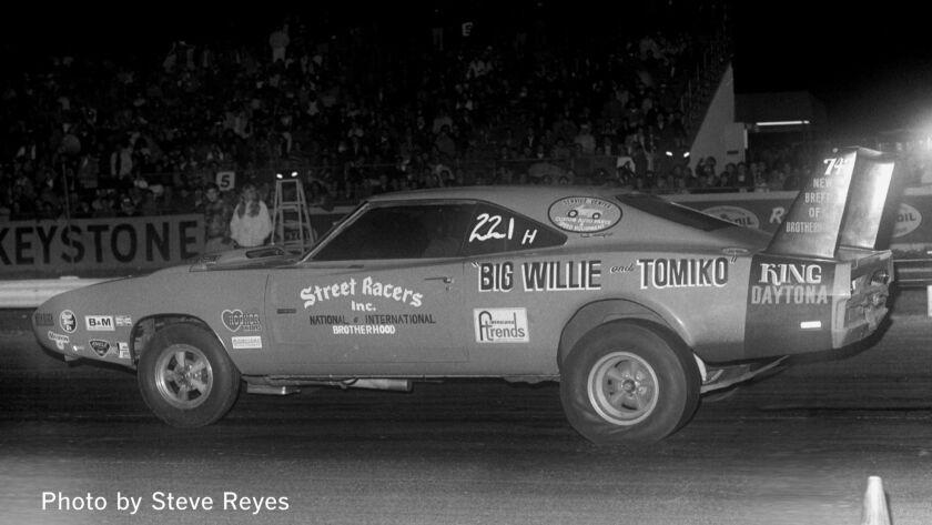 1971, Big Willie driving the king Daytona. Mandatory Photo credit Steve Reyes