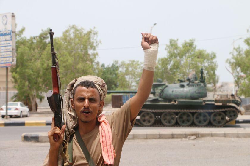 Yemeni separatists control city of Aden