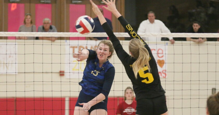 Avry Tatum racked up eight kills for LCC.
