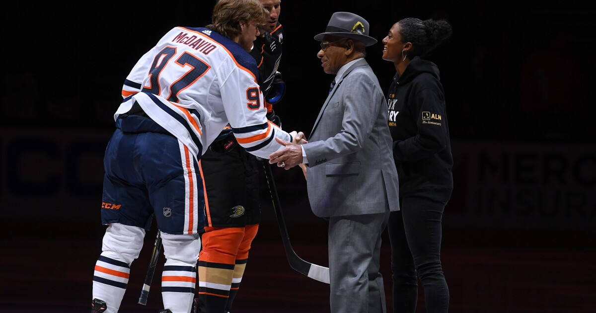 Column: Blake Bolden continues her pioneering role in hockey as scout for Kings