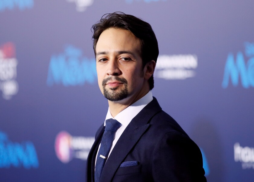 "Actor and composer Lin-Manuel Miranda poses at the world premiere of Walt Disney Animation Studios' ""Moana"" as a part of AFI Fest in Hollywood"