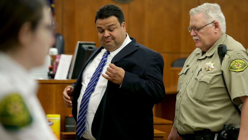 In this Thursday, March 30, 2017, photo, Keith Vallejo leaves the courtroom, in Provo, Utah. A Utah