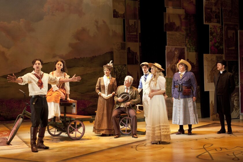 "The cast of ""A Room With a View"" finds a Florentine state of mind in the Old Globe's world-premiere musical."