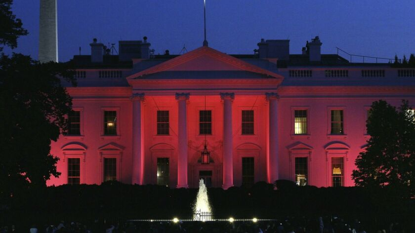 The White House Lit In Pink For Breast Cancer Awareness Month