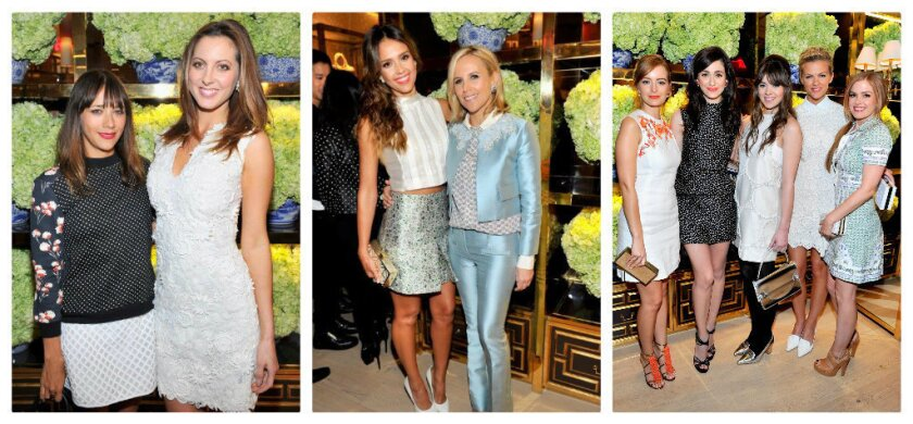 Celebrities celebrate the opening of Tory Burch's Rodeo Drive boutique