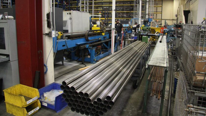 Pipes ready for bending.