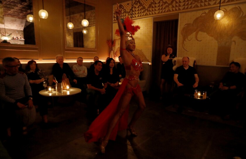 Ms. B LaRose dances at Genever in L.A.'s Historic Filipinotown.