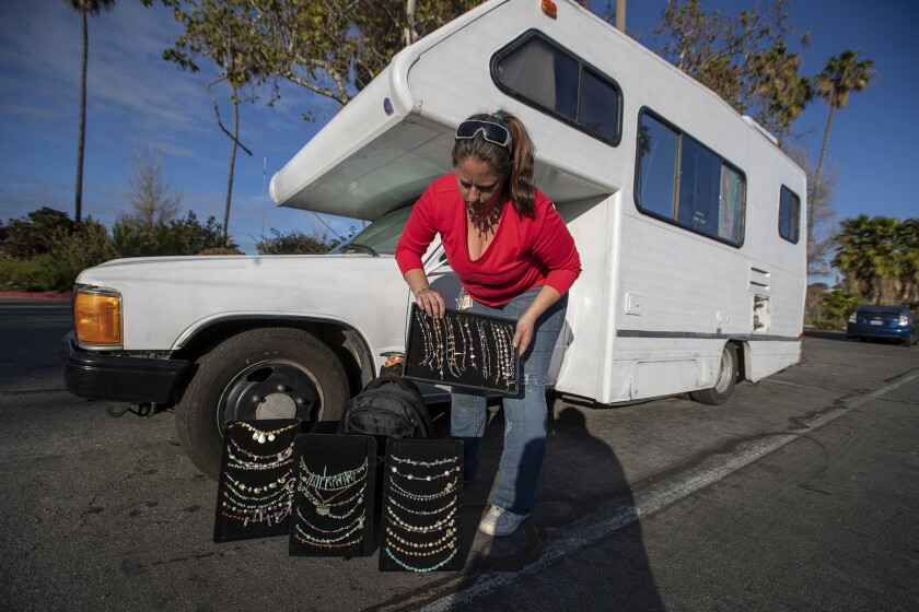 DANA POINT, CALIF. -- WEDNESDAY, FEBRUARY 27, 2019: Mandy Pittock, who has been living with her guin