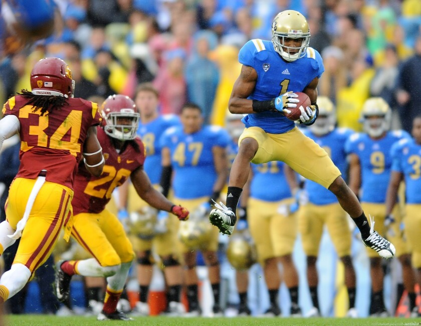 Shaquelle Evans is part of a deep and experienced UCLA receiving corps.