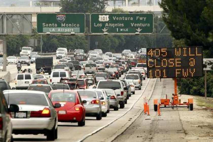 Traffic piles up in Los Angeles. The U.S. ranks last in energy efficiency in the transportation sector, according to a new report from ACEEE.