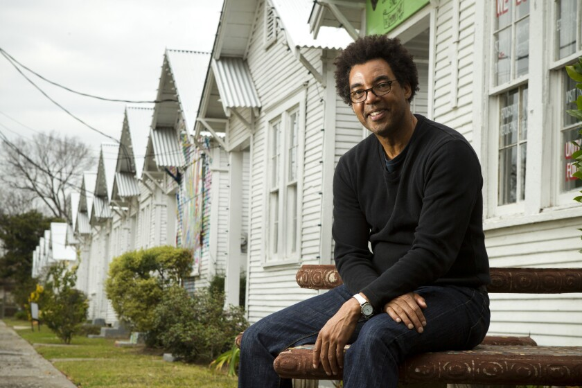Rick Lowe poses for a portrait at Project Row Houses in Houston on Jan. 10.