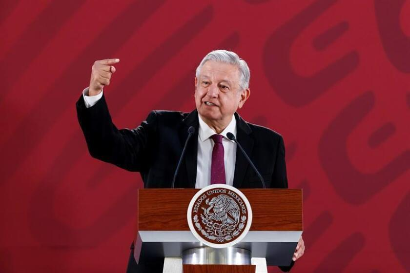 Mexican President Andres Manuel Lopez Obrador said at his March 25, 2019, press conference in Mexico City that he is considering re-opening the case against the confessed killer of presidential candidate Luis Donaldo Colosio 25 years ago, Mario Aburto, who is serving a prison sentence for the deed. EFE-EPA/Jose Mendez