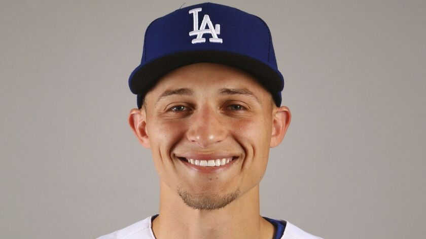 This is a 2019 photo of Corey Seager of the Los Angeles Dodgers baseball team. This image reflects t