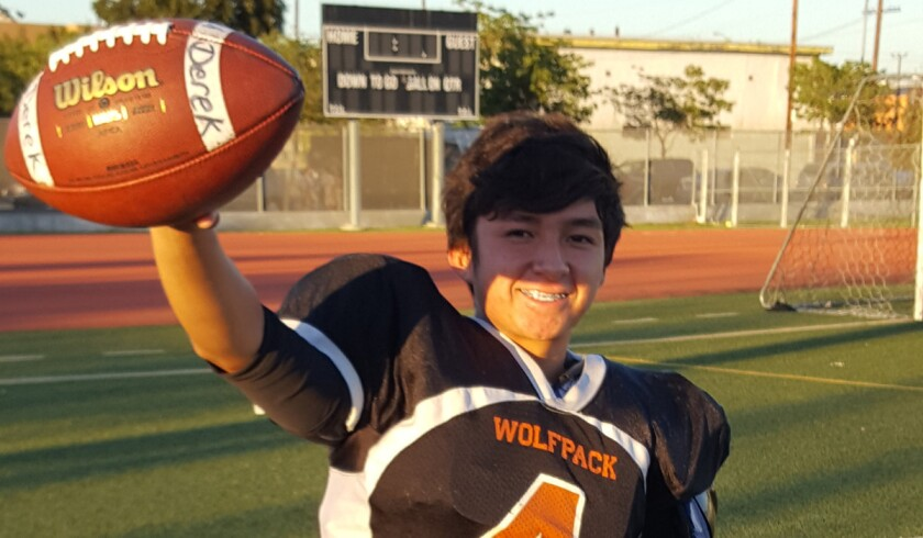 Nelson Gonzalez has a 4.0 grade-point average and was valedictorian at his middle school.