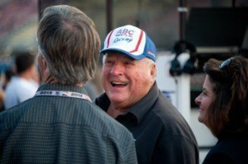 A. J. Foyt before the race