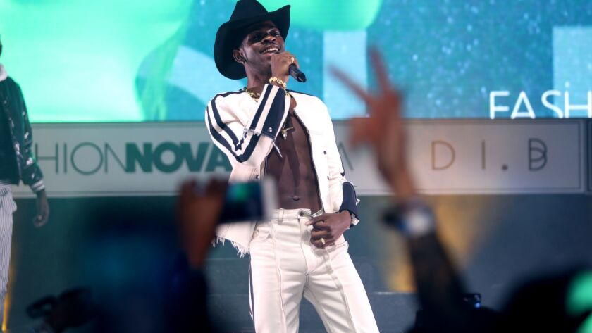 Lil Nas X performs at Fashion Nova Presents: Party With Cardi in May 2019 in Los Angeles.