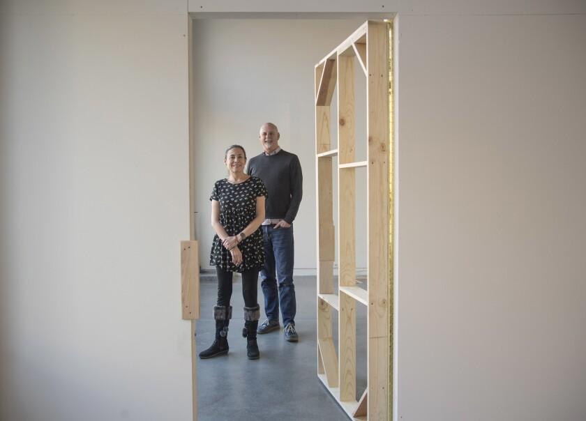SANTA ANA, CA - February 25, 2019: Associate Director Tracey Gayer (L) and Director John D. Spiak