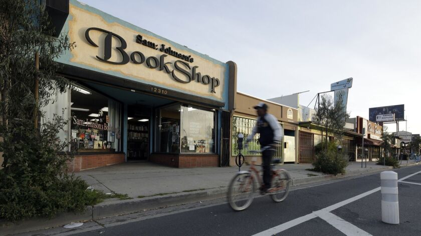 MAR VISTA, CA -- MARCH 29, 2018: Sam: Johnson's Bookshop has been on Venice Boulevard in Mar Vista s