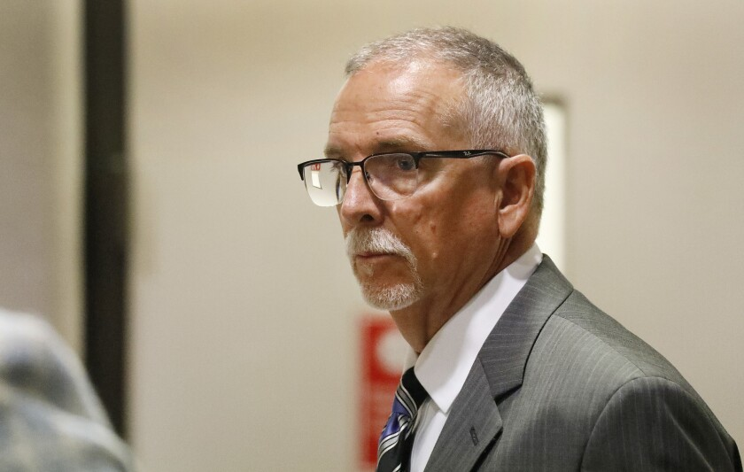 Dr. James Heaps, a former UCLA obstetrician-gynecologist, appears in court on  June 26, 2019.